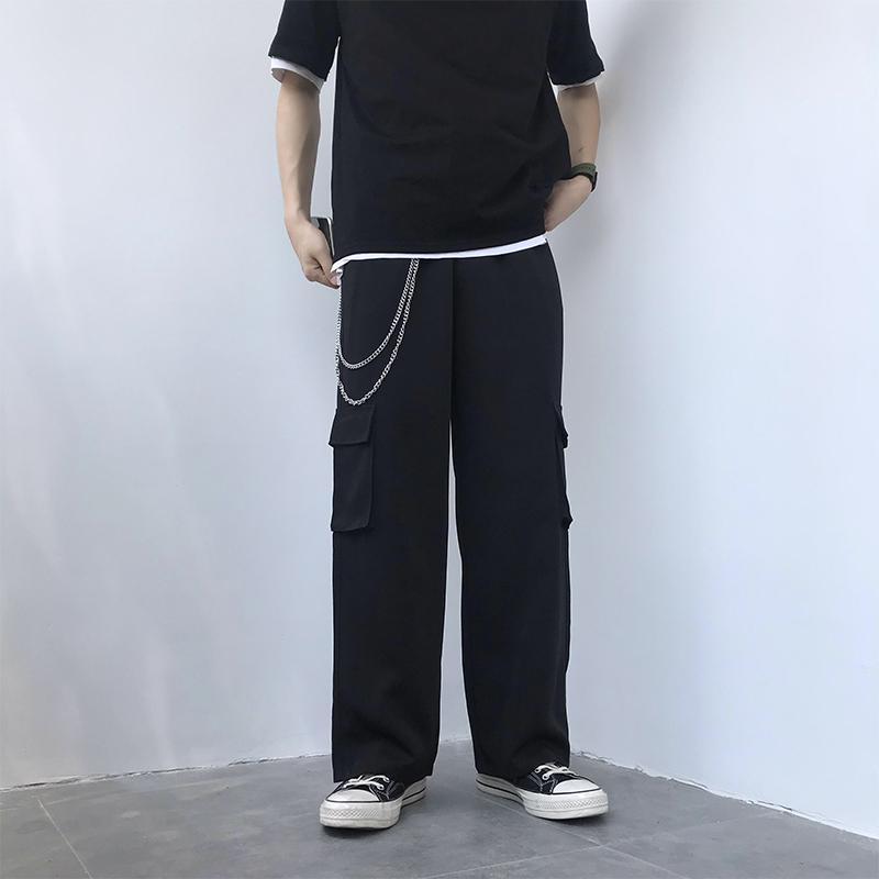 Hombres Ropa Casual 2020 Nueva sólido Hip Hop pantalón para hombre pantalones rectos flojos de Calle Pantalones masculinos más el tamaño de los hombres Joggers