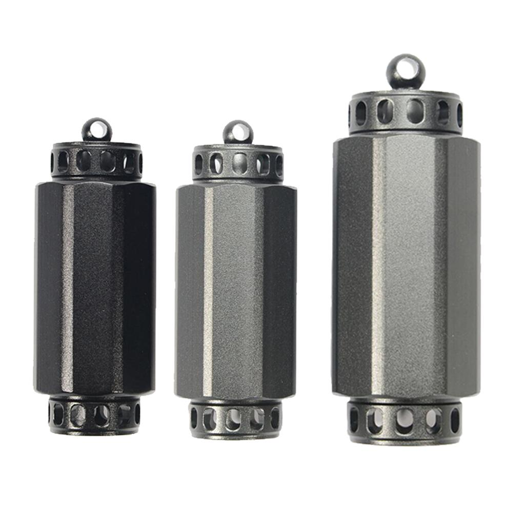 3pcs Outdoor Survival Aluminium Cases Waterproof Capsule Sealed Bottle