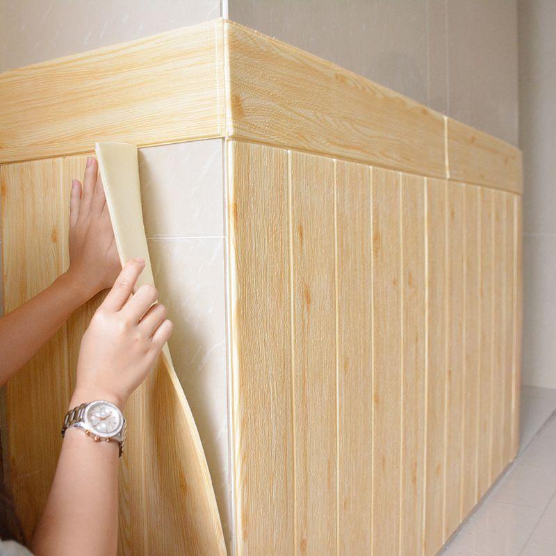 3D 나무 패턴 벽지 침실 벽 장식 장식 거실 홈 개선 방수 셀프 접착 스티커