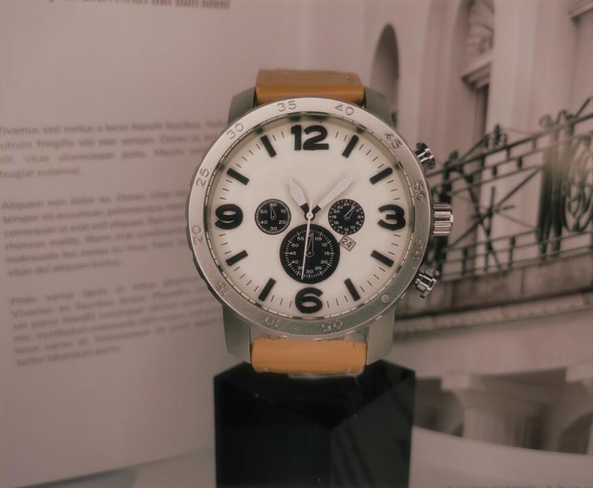 En Yüksek Kalite Kuvars İzle İçin Erkekler Moda kol saati Kauçuk Kayış Sport Chronograph Saatler, montre de luxe, orologio di lusso