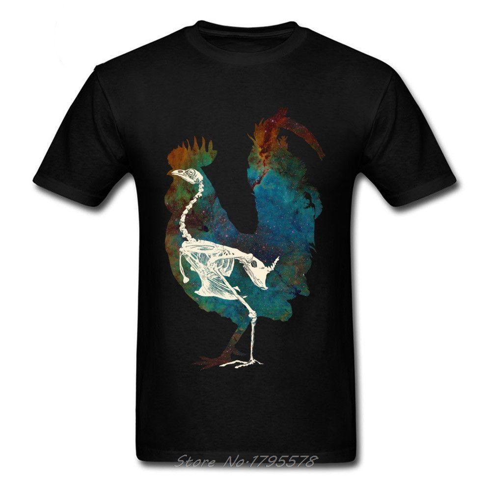 Kaufen Hemd Hahn Construction Skeleton T-Shirt Druck Kreative Design Mode Harajuku-T-Shirt O-Ansatz T-Shirt Männer-T-Shirts aus Baumwolle