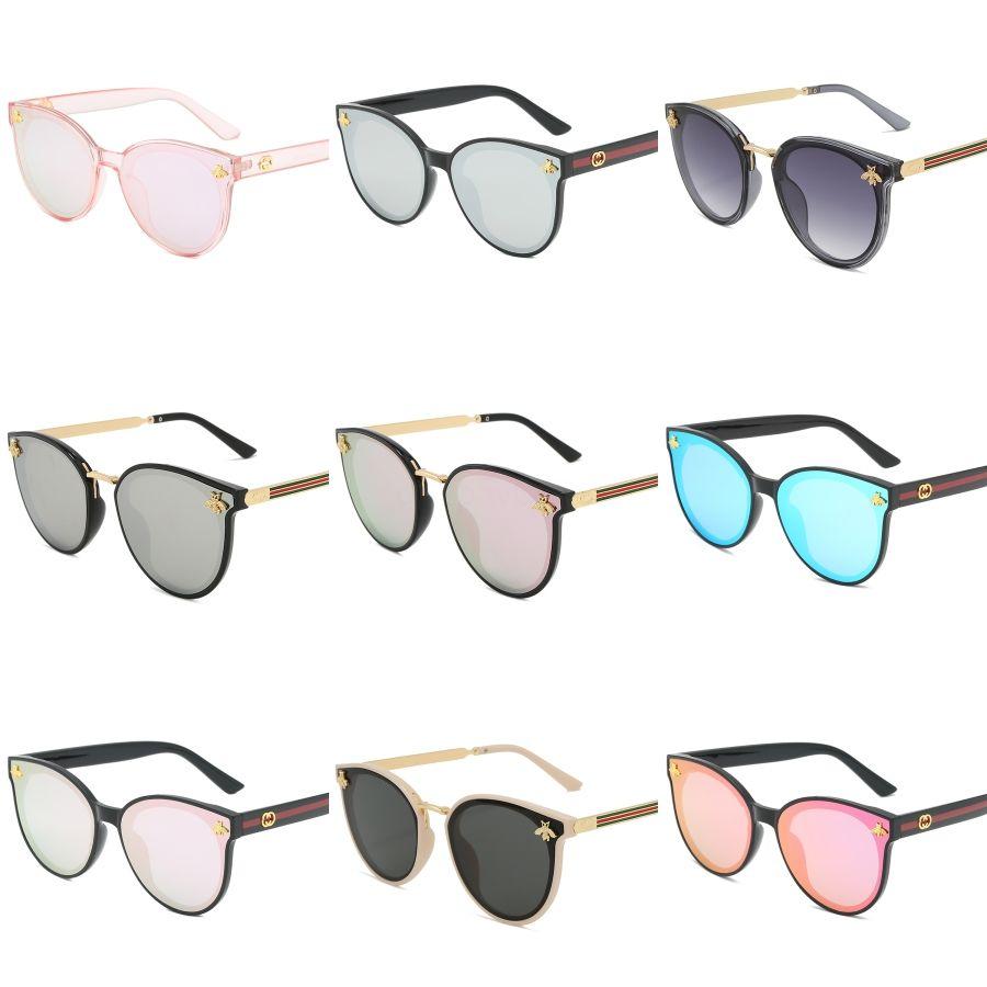 2020 Moda Óculos de Sol Retro Vintage aro Limpar Óculos Men Óculos Ouro Prata Metal Frame chifre de búfalo Vidros Com E # 250