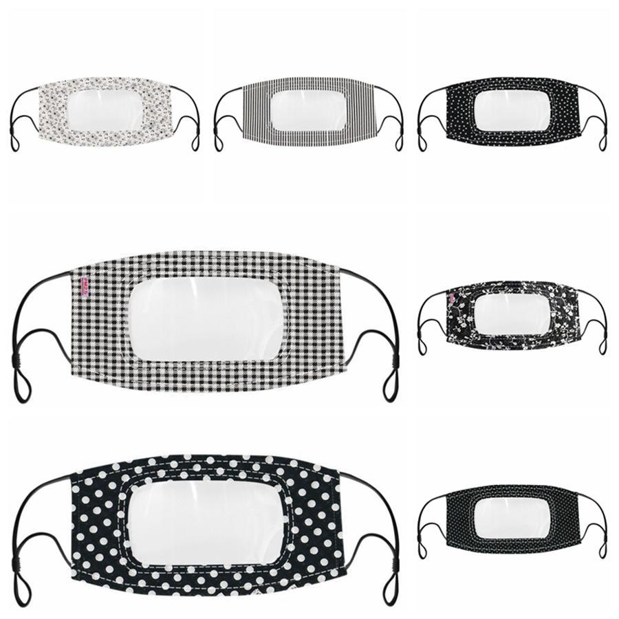 Sordomuto trasparente della maschera di protezione riutilizzabile lavabile maschere antipolvere antiappannamento Earloop Cancella Maschere Designer 7styles RRA3328