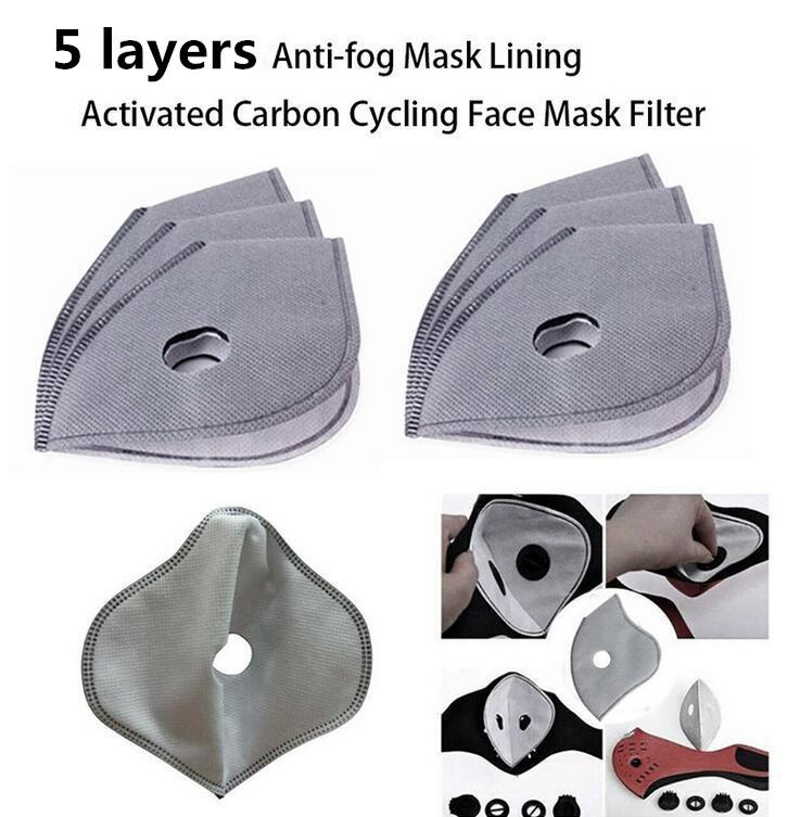 DHL Ship 100 pcs Anti Fog Pm2.5 Replacement Mask Pad Anti Haze Dust Mouth Masks Activated Carbon Filter Paper Health Care FY9040