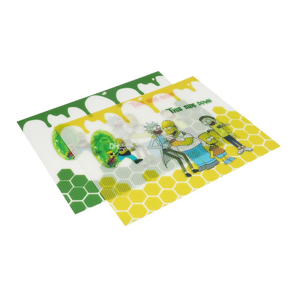 9'x11 '' Silikon Paspaslar Pişirme Mat Muiti-Fonksiyon Fırın Isı Pedi Bakeware Çocuk Masa Placemat Dekorasyon Pedleri