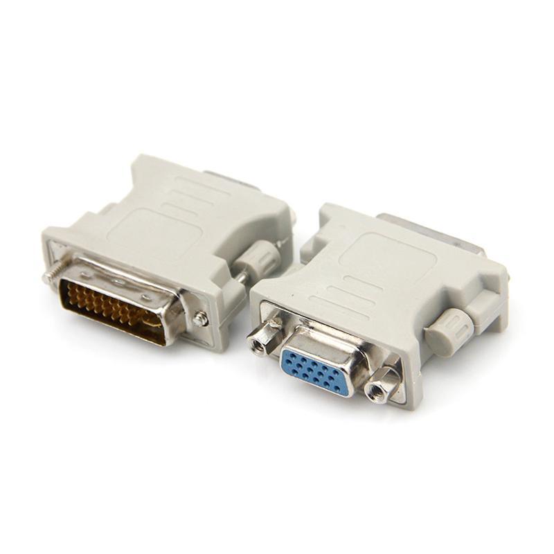 100pcs DVI 24 + 5 macho a VGA 15PIN género hembra convertidor del adaptador del cambiador