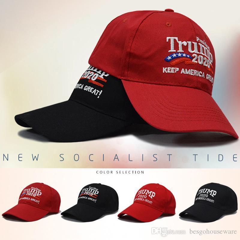 أسهم الولايات المتحدة! 4 أنماط التطريز القطن قابل للتعديل تنفس القبعة ترامب 2020 قبعات البيسبول الاحتفاظ أمريكا العظمى كاب في الهواء الطلق ترامب للجنسين
