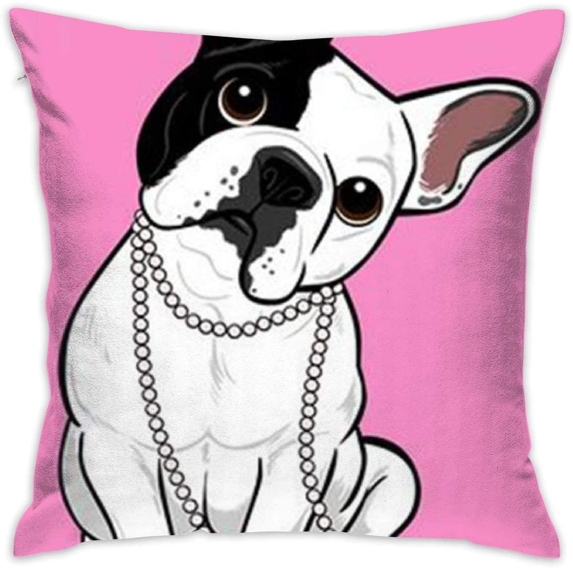 Eu French Bulldog Pillow Cover Decorative Home Decor Nice Gift Square Indoor Pillowcase 18 X 18 Inch 45 X 45 Cm Side Sleeper Pillows Unique Pillows From Homeues12 13 07 Dhgate Com