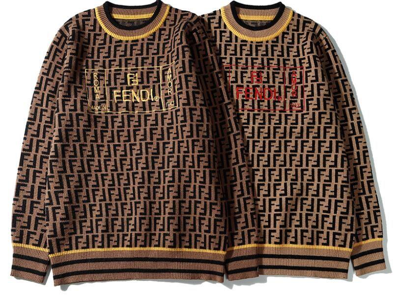 FENDl  2020 Maglioni Maglione Uomini O-collo maglia casuale sudore Jumpers Maglia Uomo Lungo Pullover Uomo