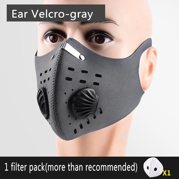 Máscaras al por mayor Ciclismo facial protectora reutilizable Formación bici del camino máscara Activated Carbon PM2.5 anti-contaminación por polvo máscaras de diseño