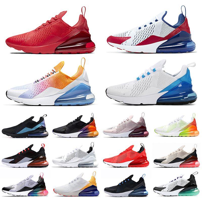 Nike Air Max 270 Shoes Koşu Ayakkabıları Toplam Turuncu Gerçek Savaşçılar Olabilir Habanero Kırmızı Gerileme Gelecek TFY Vibes Kadınlar Erkek Eğitmen Spor Sneakers 36-45