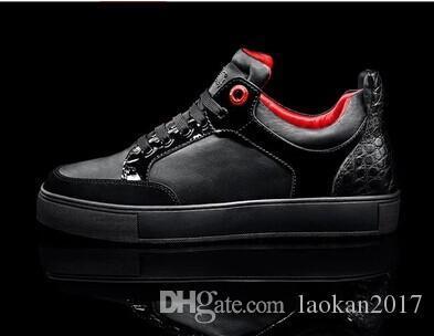 moda Royaums gündelik gerçek deri kaliteli Dalga boyutu AB 36-47 ücretsiz kargo için Toptan yeni 2017 Unisex erkek spor ayakkabısı düşük üst
