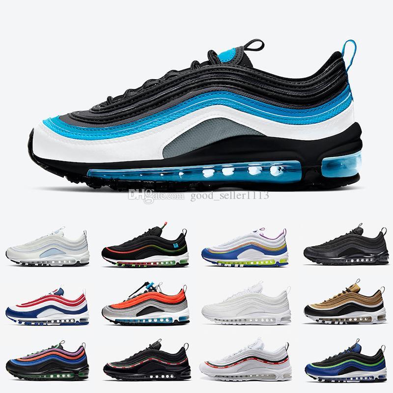 Nike air max 97 airmax Worldwide Zapatillas de running para hombre Aqua Blue USA Ghost Easter MSCHF x INRI Jesus 97s UNDEFEATED hombres mujeres zapatillas deportivas de diseñador