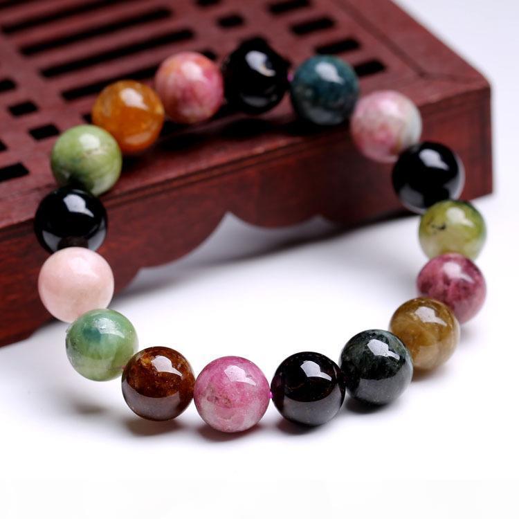 2017 Nuovo 8 millimetri Tourmaline Bead braccialetto dei braccialetti Gioielli Per Donna Accessori Charms Reiki Amuleto monili registrabili delle decorazioni di moda