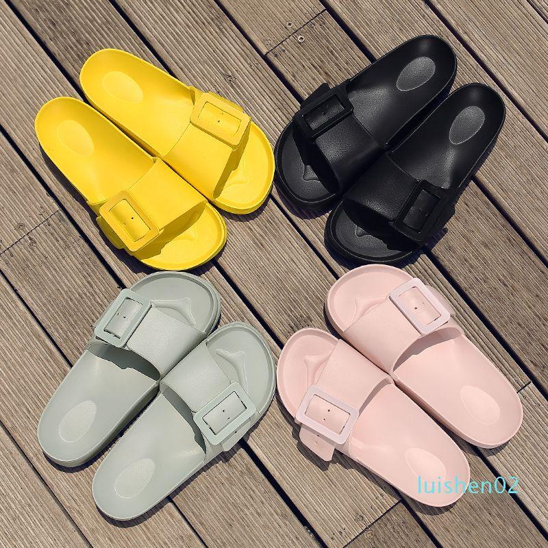 Ropa de playa zapatos de verano 2020 nueva versión coreana de la moda antideslizante costera palabra informal femenina L02 arrastre