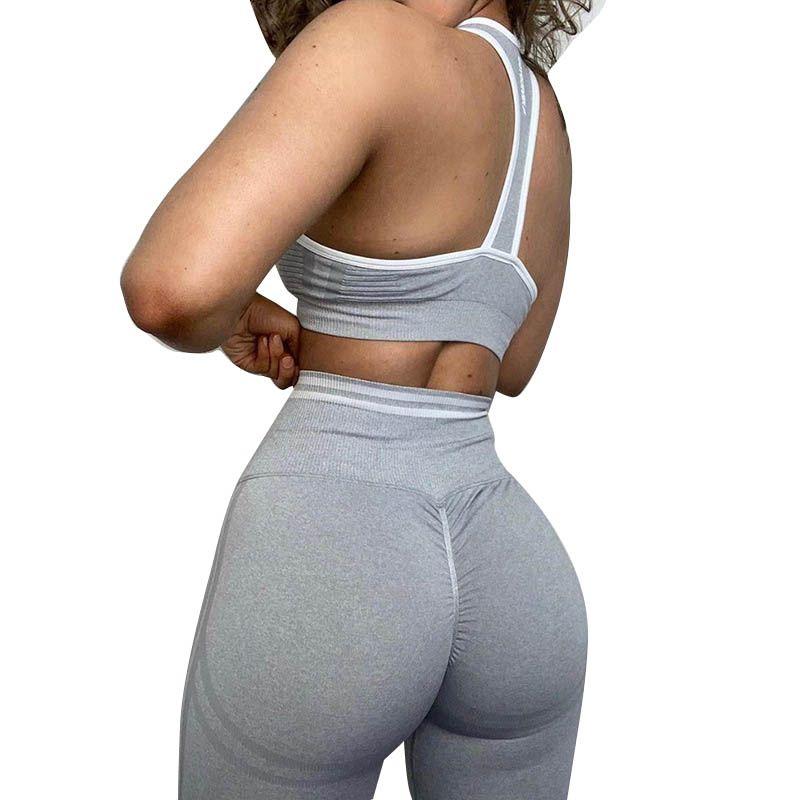 Women Yoga Leggings Sexy High Waist Sports Fitness Pants Ladies Seamless Gym Skinny Female Running Trousers Fashion Slim Pants 050804