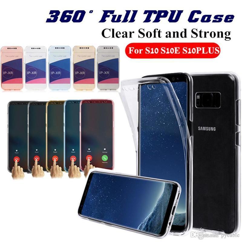 360 estuches para teléfono TPU SOFT 360 para iPhone 11 Pro Max 12 6 7 8 Plus XS XR Samsung Note 20 A21S A31 S9 J6 A41 A10 M10 A750 A01 A71 A51 A40 S10 S10E A20E S20 ULTRA CUBIERTE DE CRISTAL DE CORRECTAMENTE