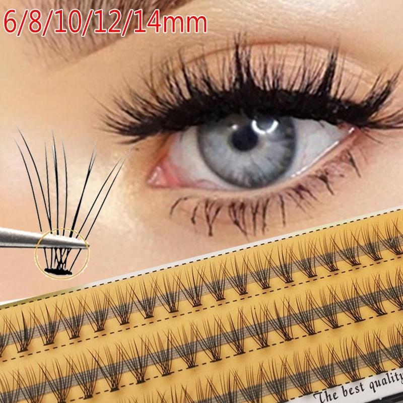 60pcs Eyelashes Extension 10d Natural Short Mink Lashes Individual Cluster Curl C 0.07 Thickness Soft Handmade Makeup Tool