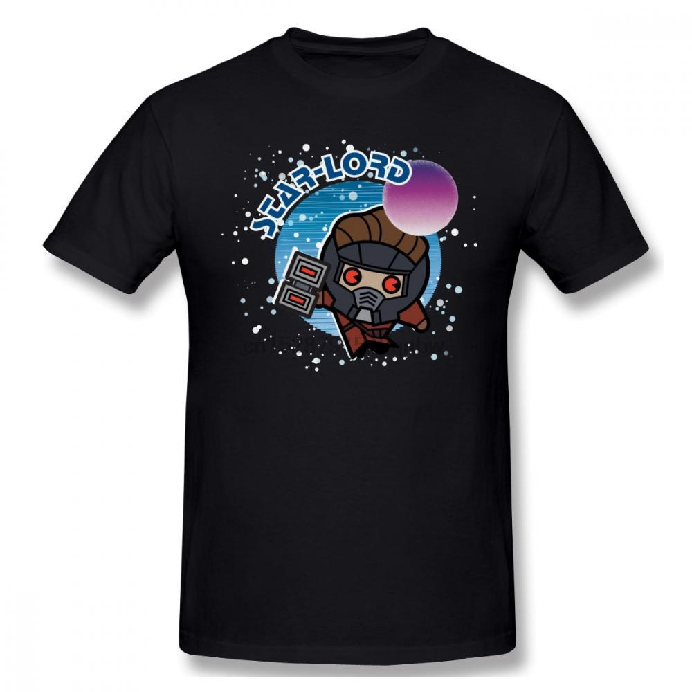 Starlord T Shirt Kawaii Star-Lord In Space T-Shirt Fun Basic Tee Shirt Printed Man 100 Cotton Oversized Short Sleeves Tshirt