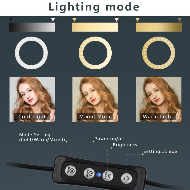 Quality12inch selfie Anel flash LED Câmara Fotografia de Telefone Fotografia Enhancing para Smartphone Estúdio de Vídeo