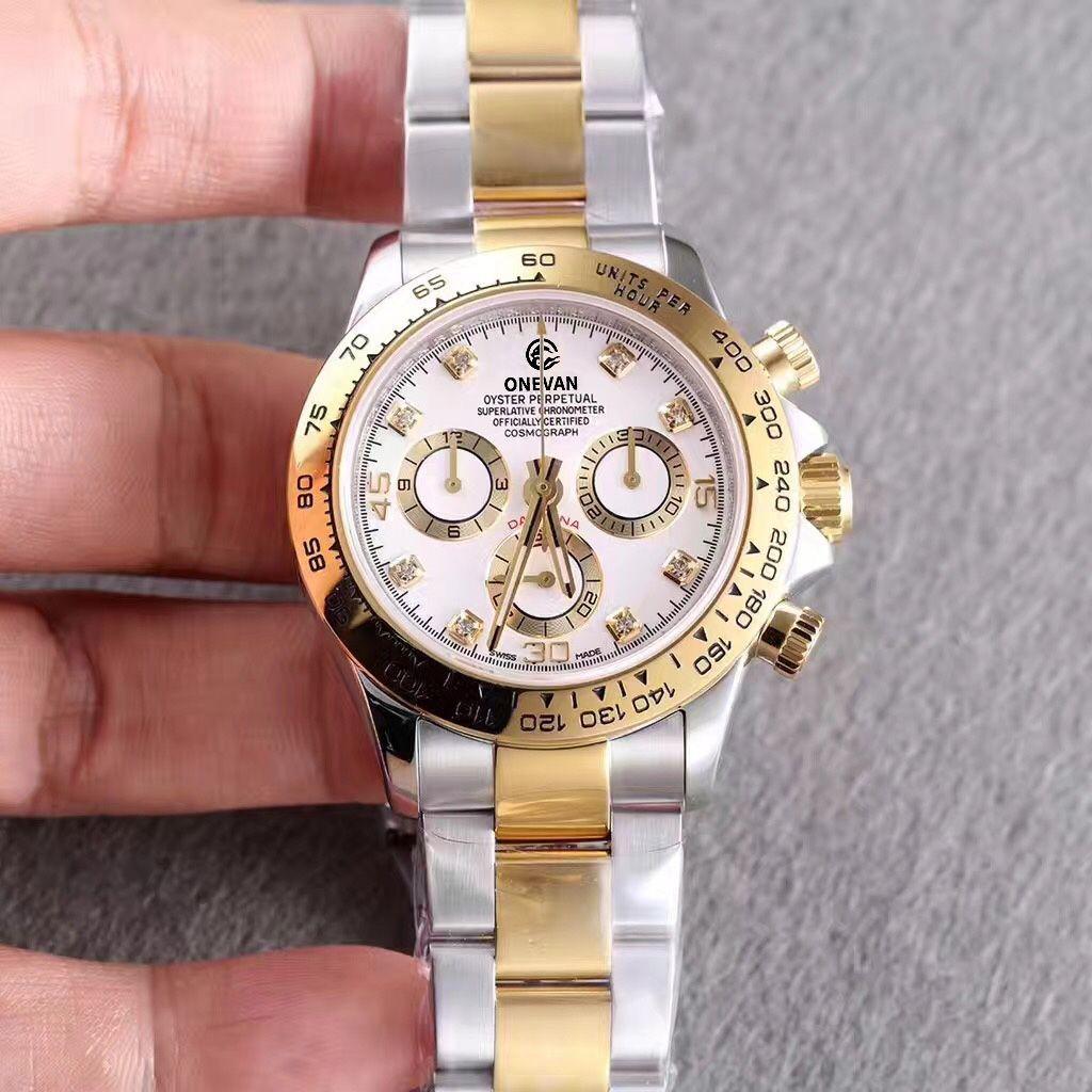 الأعلى مصنع الرجال ووتش TONA 116500LN مصمم ووتش ساعة اليد MONTRE دي لوكس التلقائي الذهب الحافة 316L الفولاذ قابلة للطي Adustable الإبزيم
