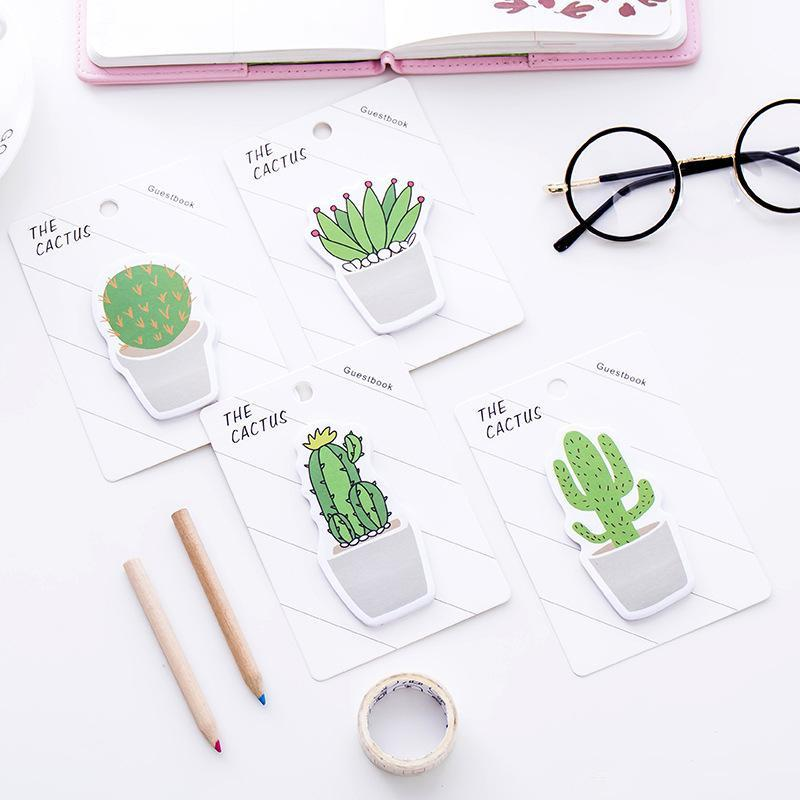 Cute Cactus Memo Pad Sticky Note Sticker Memo Book Note Paper N Stickers Stationery Office Accessories School Supplies 525