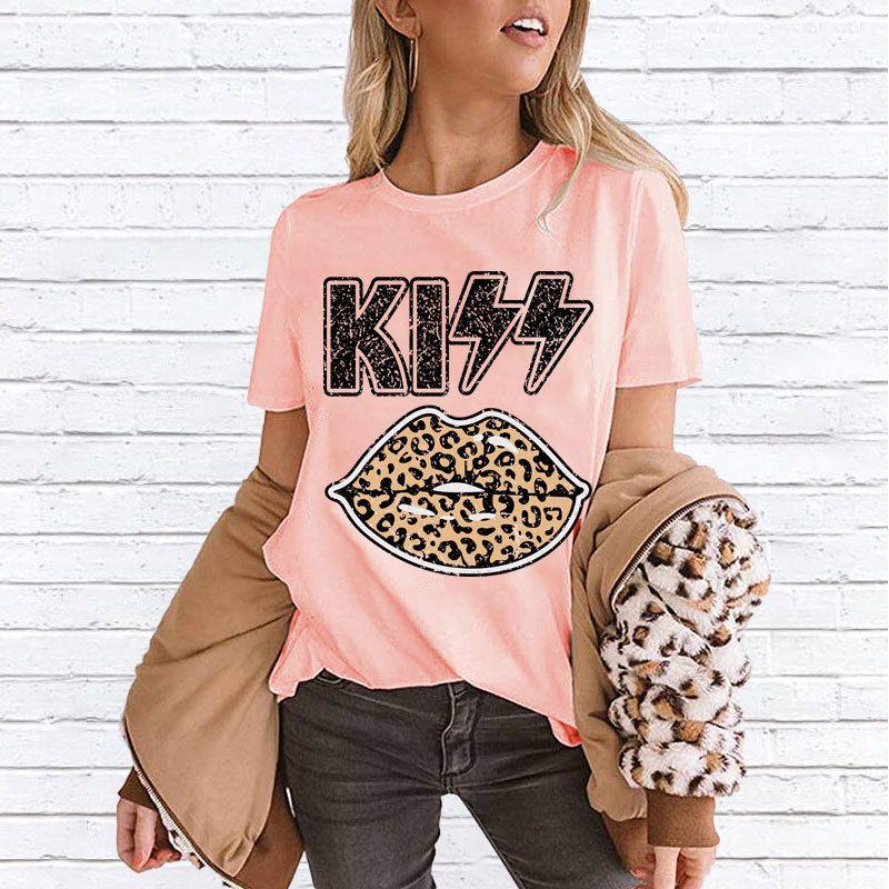 Tops de las mujeres ocasionales camiseta para el verano con las señoras impresa letra camisetas de la moda de alta calidad de Streetwear Tees Ropa tamaño S-2XL