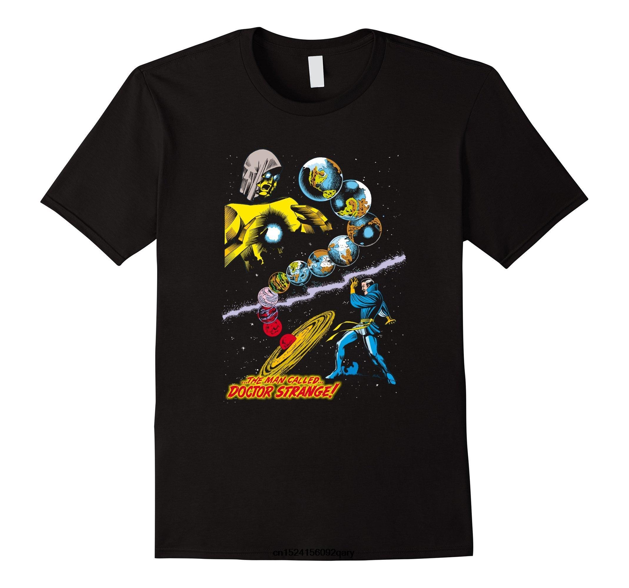 Erkekler Komik Tişörtlü Serin Tişört Doktor Strange Dünyalar Grafik Tişört Baskı Tişört Erkek Yaz Pamuk Düşük Fiyat En Tee