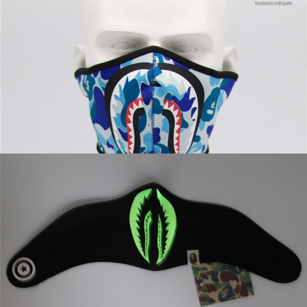 Gesicht Mund Anti-Staub-Haifisch-Abdeckung Printed Radfahren Motorrad Maske Waschbar Wiederverwendbare Halb Fa 4j21
