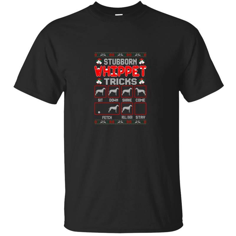 Lustige Hartnäckige Whippet Hund betrügt Weihnachten hässliche Strickjacke T-Shirt Herren-Sommer-Männer-T-Shirt 2020 T-Shirt Geschenk-T-Stück Spitze