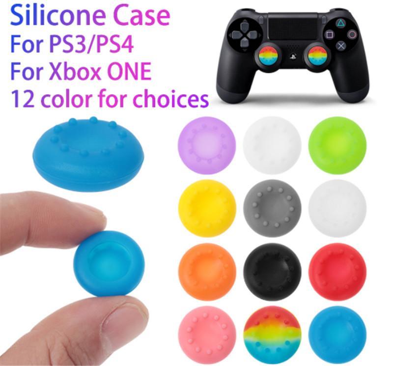 Macio Skid-prova thumbsticks Cap Silicone tampões vara Thumb Joystick Covers Grips Capa para PS3 / PS4 / XBOX um / XBOX 360 controladores