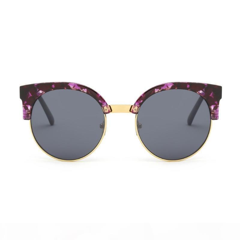 AEVOGUE occhiali da sole delle più nuove donne di marca Cat Eye originale progettista rame Tempio Rotondo Telaio Occhiali da sole UV400 AE0400