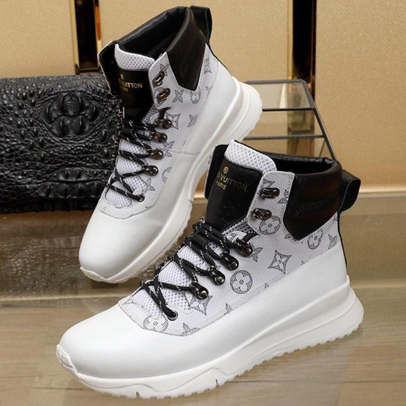 De haute qualité pour hommes, S Chaussures Vente marche extérieure souple légère Footwears Luxe Taille Plus Sport High Top Hommes Casual Chaussures Scarpe Da