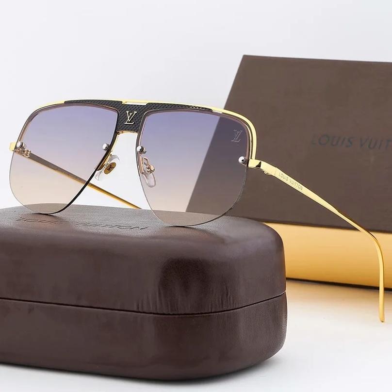 Louisvuitton mens gafas de sol para mujer Lentes de hombres de gran tamaño des Gafas de sol gafas de sol de aviador T03