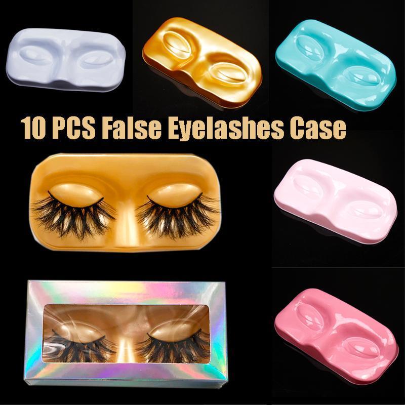 10pcs/set Face Shape Packaging Box Eyelash Trays Lashes Storage False Eyelashes Case for Women Girls