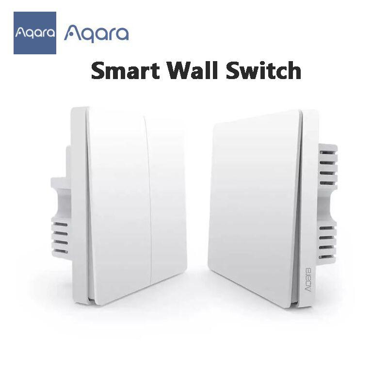 Youpin Aqara Smart Wall Switch ZigBee Light Wall Switches No Neutral Fire Wire Light Remote Control Wireless Key Relay 3002443 300224