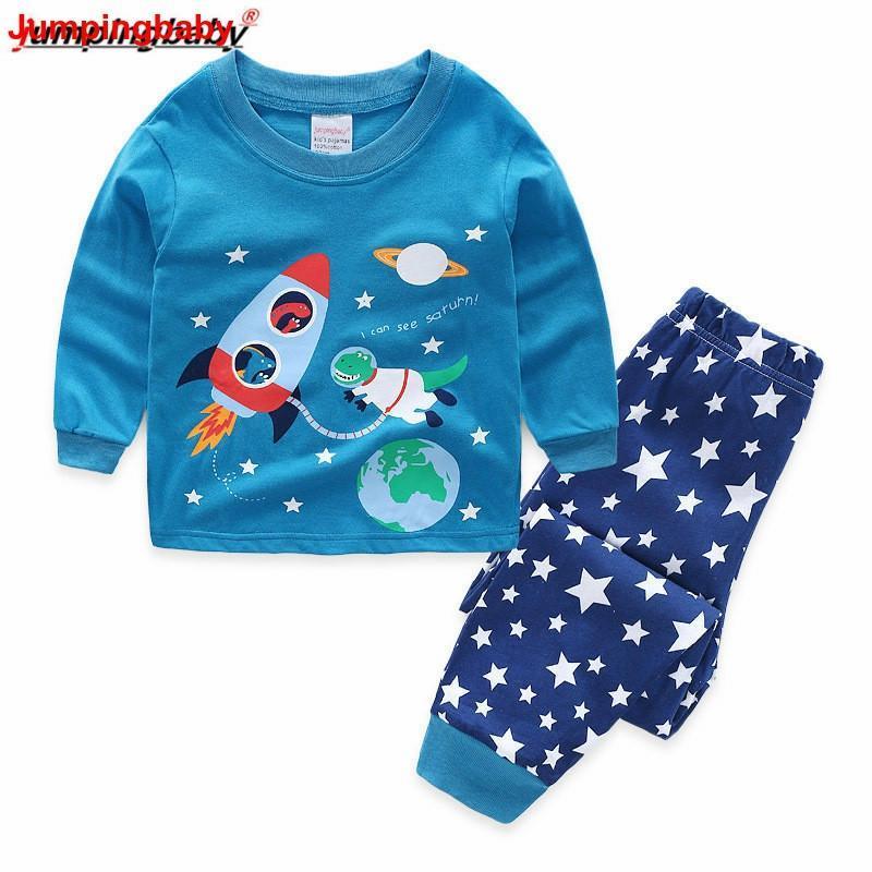 Clothing Sets Jumpingbaby 2021 Boys Pajamas Kids Clothes Pyjama Enfant Pajama Set Baby Boy Nightgown Pijamas Conjunto Infantil Toddler Pjs