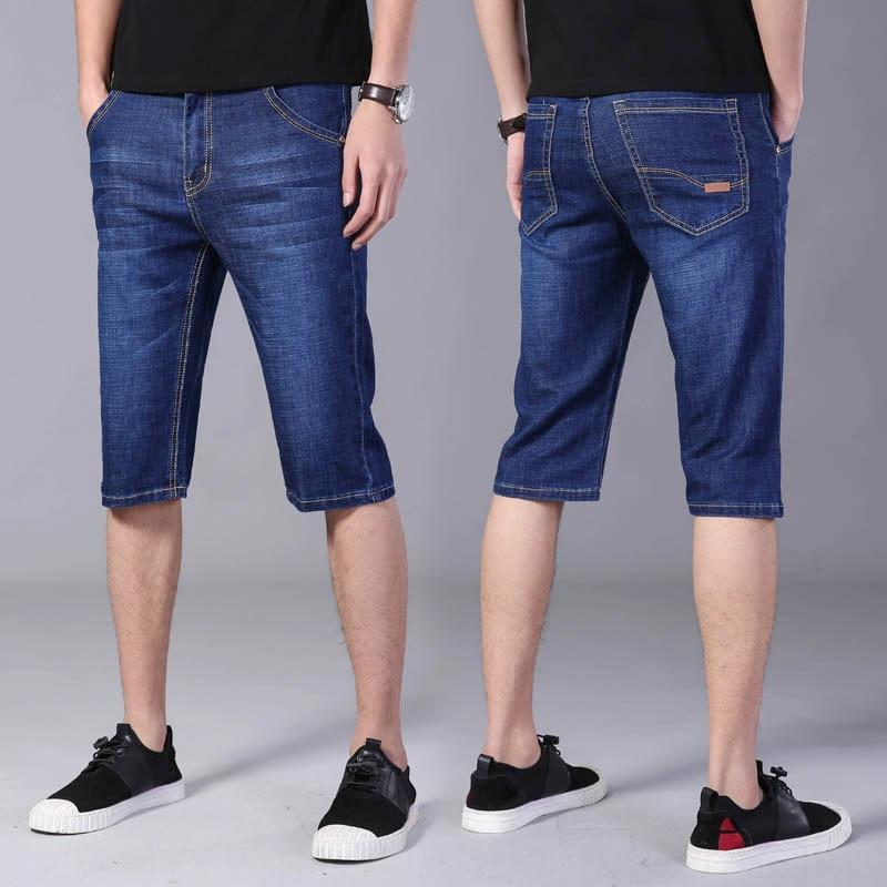 tDQJu F7bRV Stretch-Denim und Jeans Shorts und Jeans dünne Middl Shorts Herren-Fünf-Punkt-beiläufige Denim Herren-lose gerade Hosen Sieben-Punkte-s