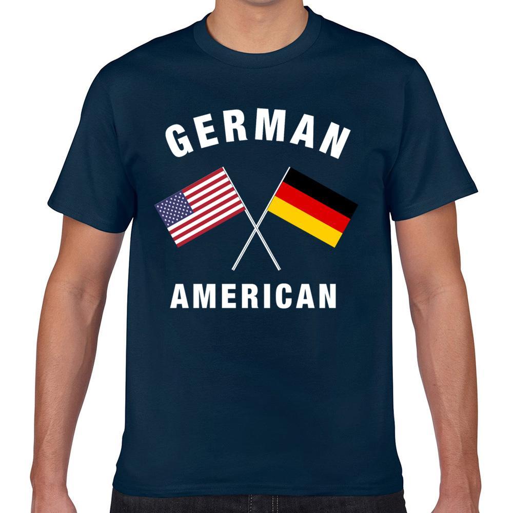 T Gömlek erkekler alman amerikan bayrağı Fit Yazıtlar Kısa Erkek Tişörtü Tops