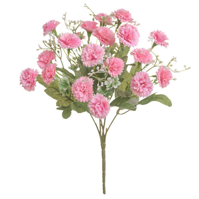 1 Bouquet 20 Heads Artificial Flowers Lilac Bud Flower Silk Fake Flower Flores For DIY Home Garden Wedding Decoration