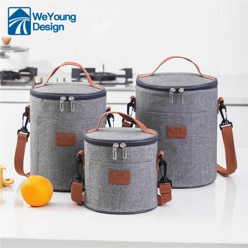 Nova caixa de embalagem do cilindro de gelo Ice alumínio portátil cilindro saco da folha de almoço com lancheira