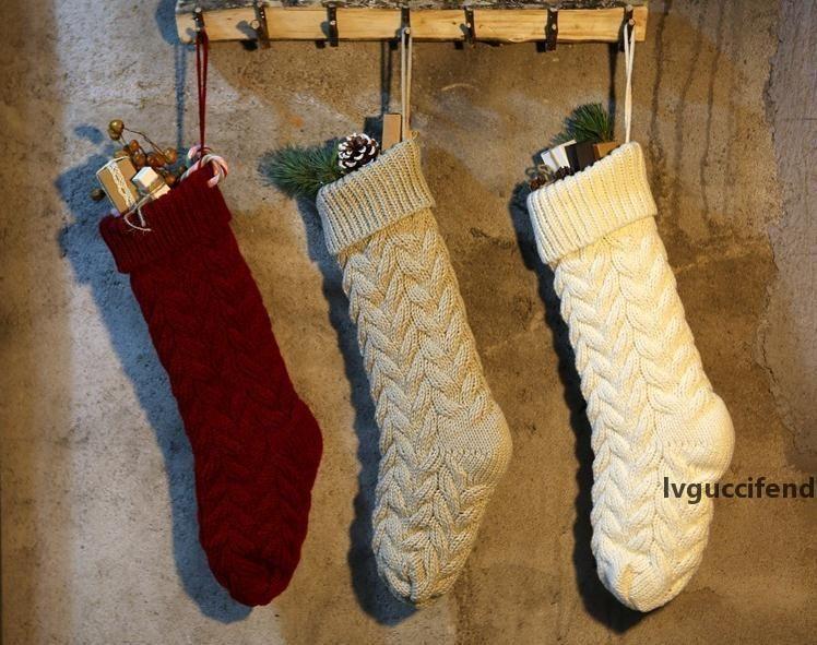 Nouveau personnalisé tricot articles de bas de Noël stocks animaux vierges Stocks de vacances de Noël Bas Famille SN307 décoration intérieure