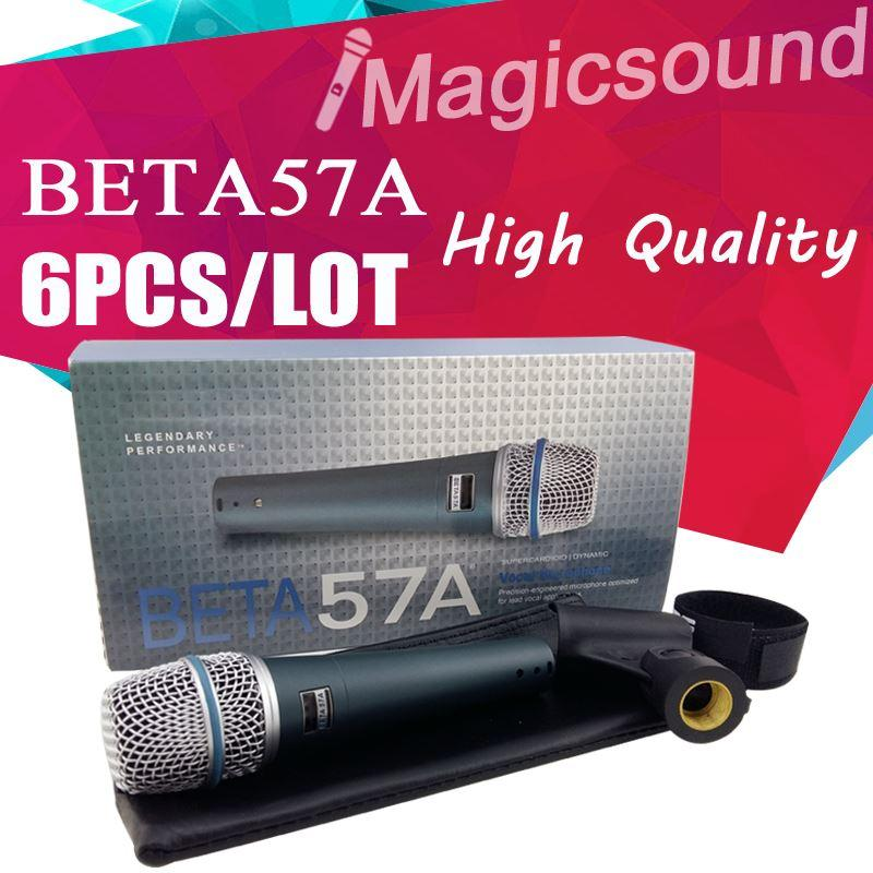 6PCS High Quality Beta 57a !! Vocal Karaoke Hand Dynamische Wired Mikrofon Superniere Microfone BETA57 Beta 57 A