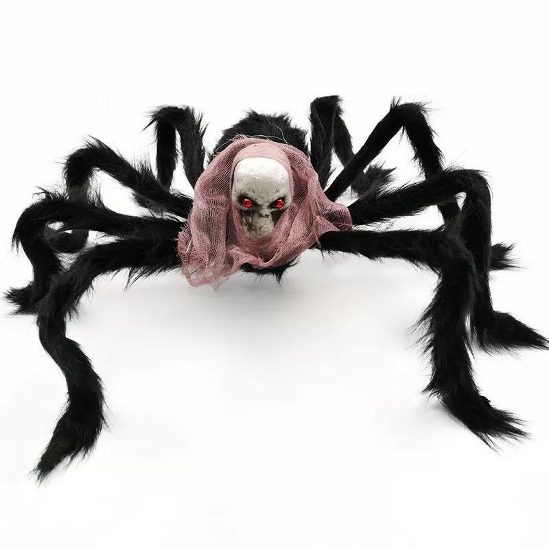 noir géant SKULL araignée décoration d'Halloween maison hantée Prop Intérieur Extérieur noir géant 500mm peur bonne livraison gratuite de qualité