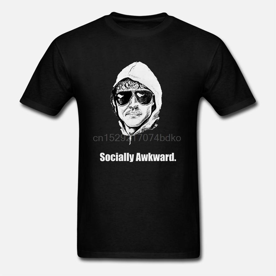 Les hommes T-shirt O-Neck T-shirts socialement Awkward Unabomber manches courtes T-shirt en coton imprimé