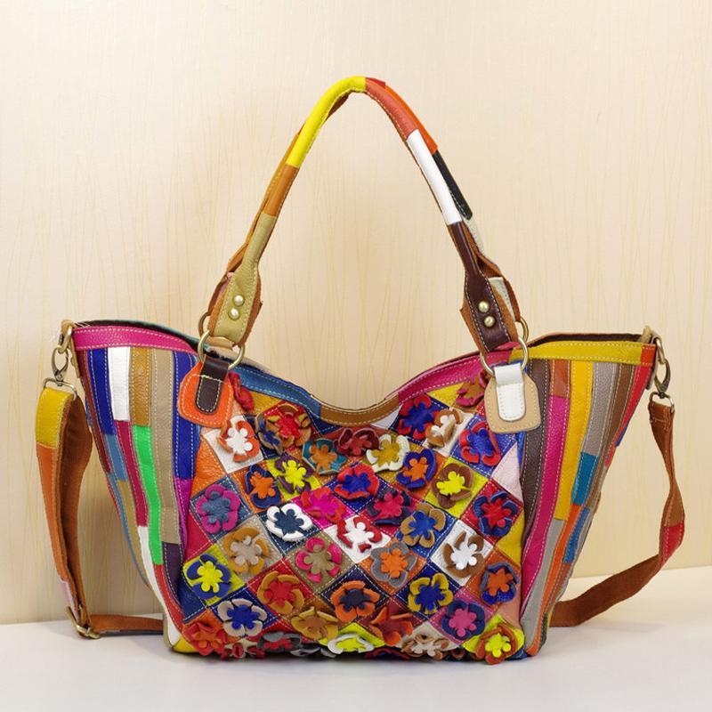 Luxury Handbags Women 3D Flowers Tote Hand Bags Designers 2020 High Quality Crossbody Bags for Women Genuine Leather Shoulder Bag Handbag