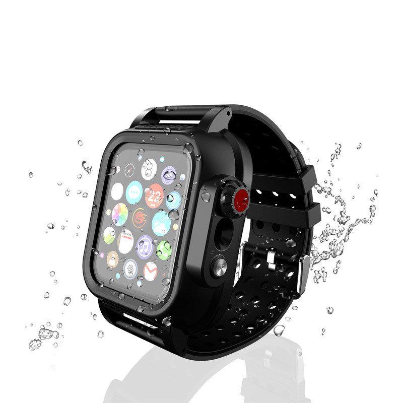 360 التغطية الكاملة IP65 Waterproof Watch Case for Apple Watch Series 1 2 3 4 5 Strap Band for iWatch 38 40 42 44mm حامي
