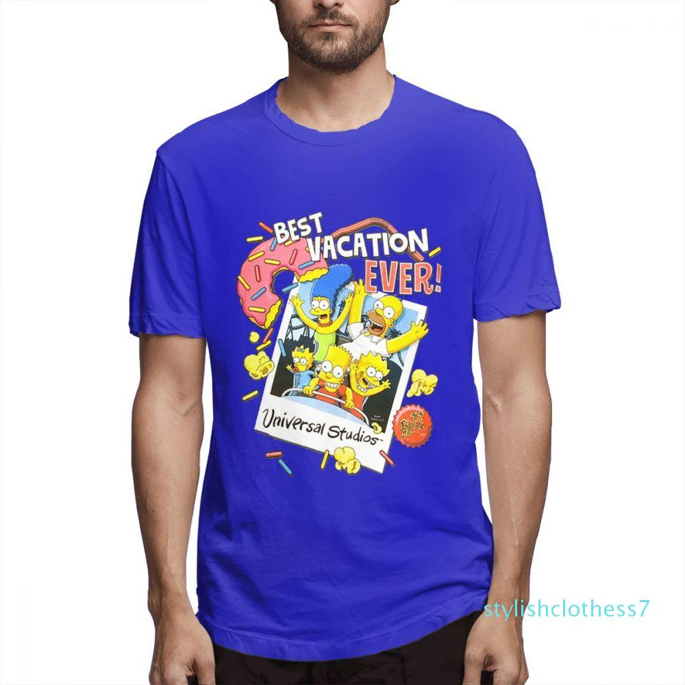 Мода дизайнерских рубашек мода тройник женских Рубашки Graphic Tee пара Рубашка Симпсоны Printed Футболка Повседневная мужская Topsc1706s08