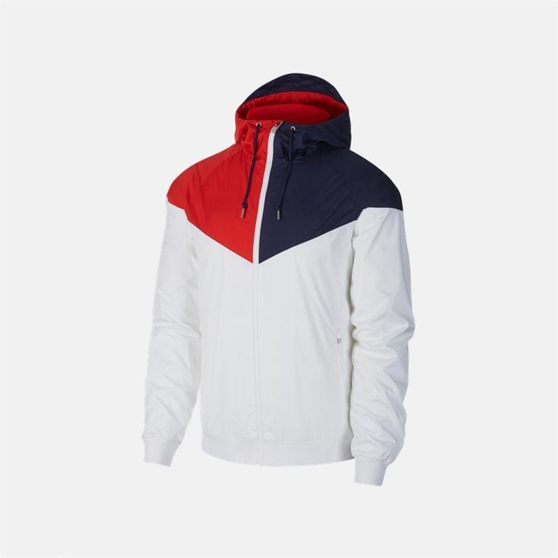 Hombres de diseno deportivo Marca Equipo chaquetas rompevientos abrigos Blanco Rojo Azul con paneles de cremallera sudaderas Marca Running chaquetas Calidad BQ1 2041605V
