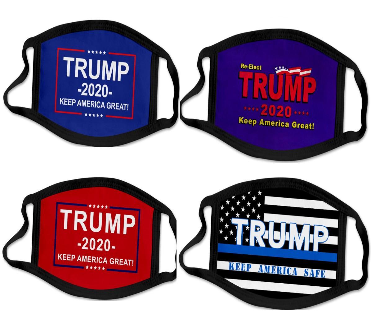 46 types Impression 3D Trump 2020 Masque coupe-vent coton Masques bouche des enfants adultes américains Élection États-Unis Mask Noir DHL